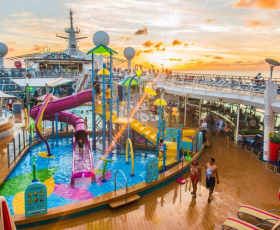 Adventure Of The Seas Pool Deck Sunset 1024x683